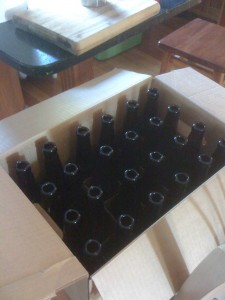 Case of 12 oz beer bottles